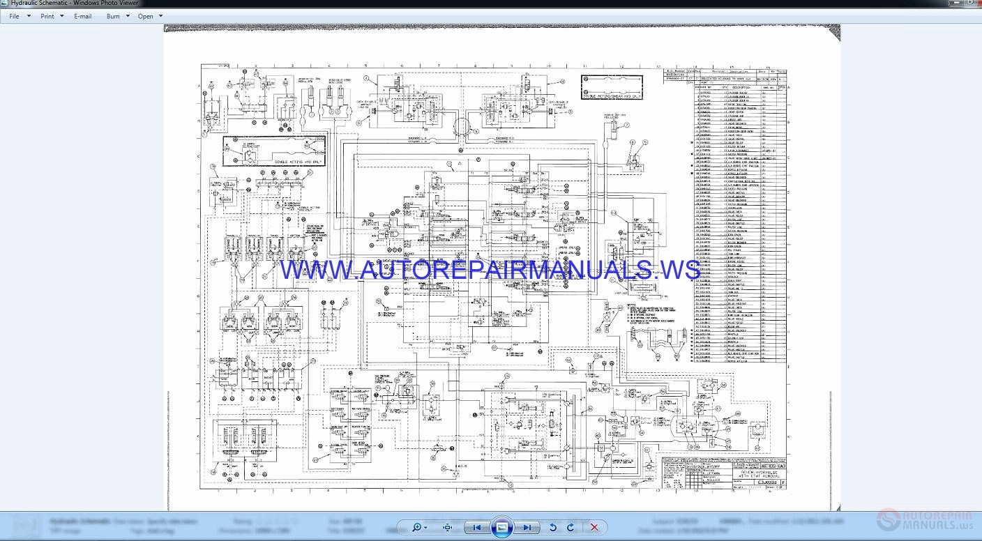 Link Belt 5800    Quantum    Excavator Schematic Shop Manual