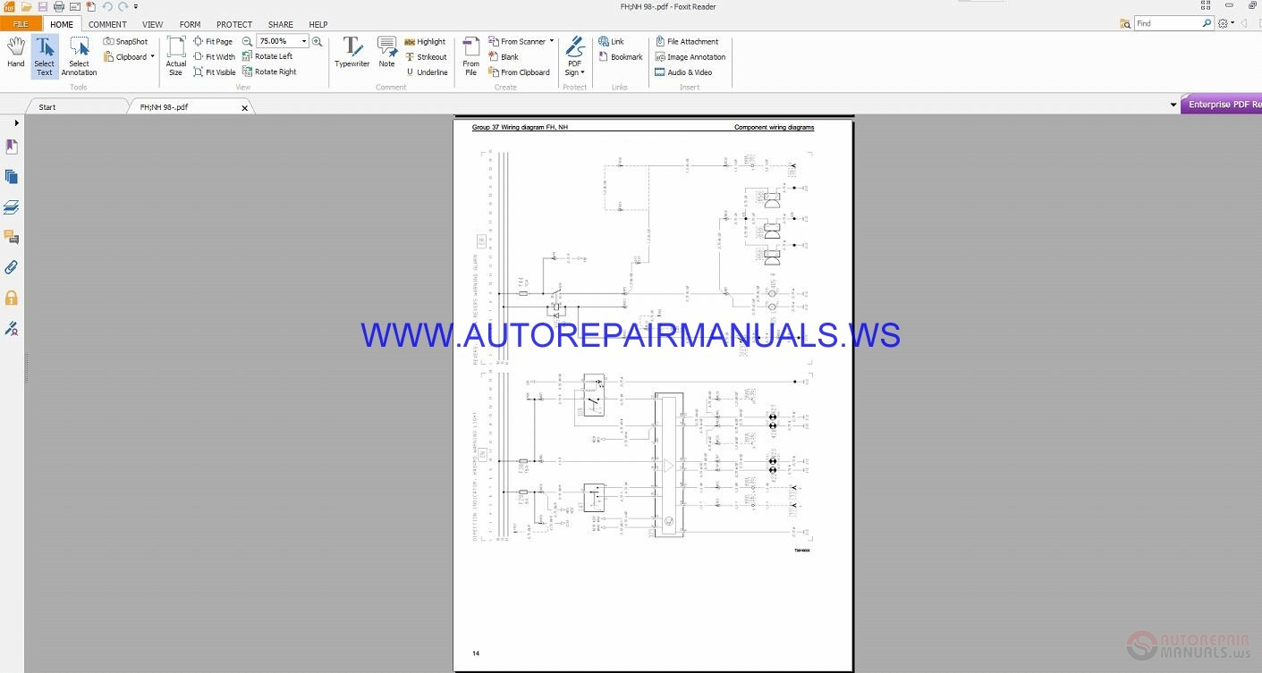 Volvo Fh  Nh Trucks Wiring Diagrams Service Manual