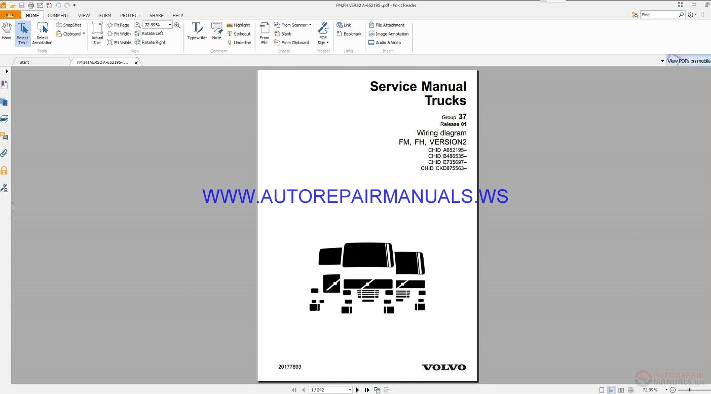 Volvo Fm  Fh Version2 Trucks Wiring Diagrams Service
