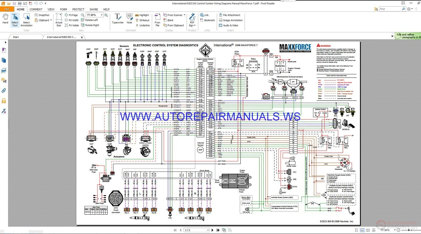 maxxforce eged365 control system wiring diagrams manual