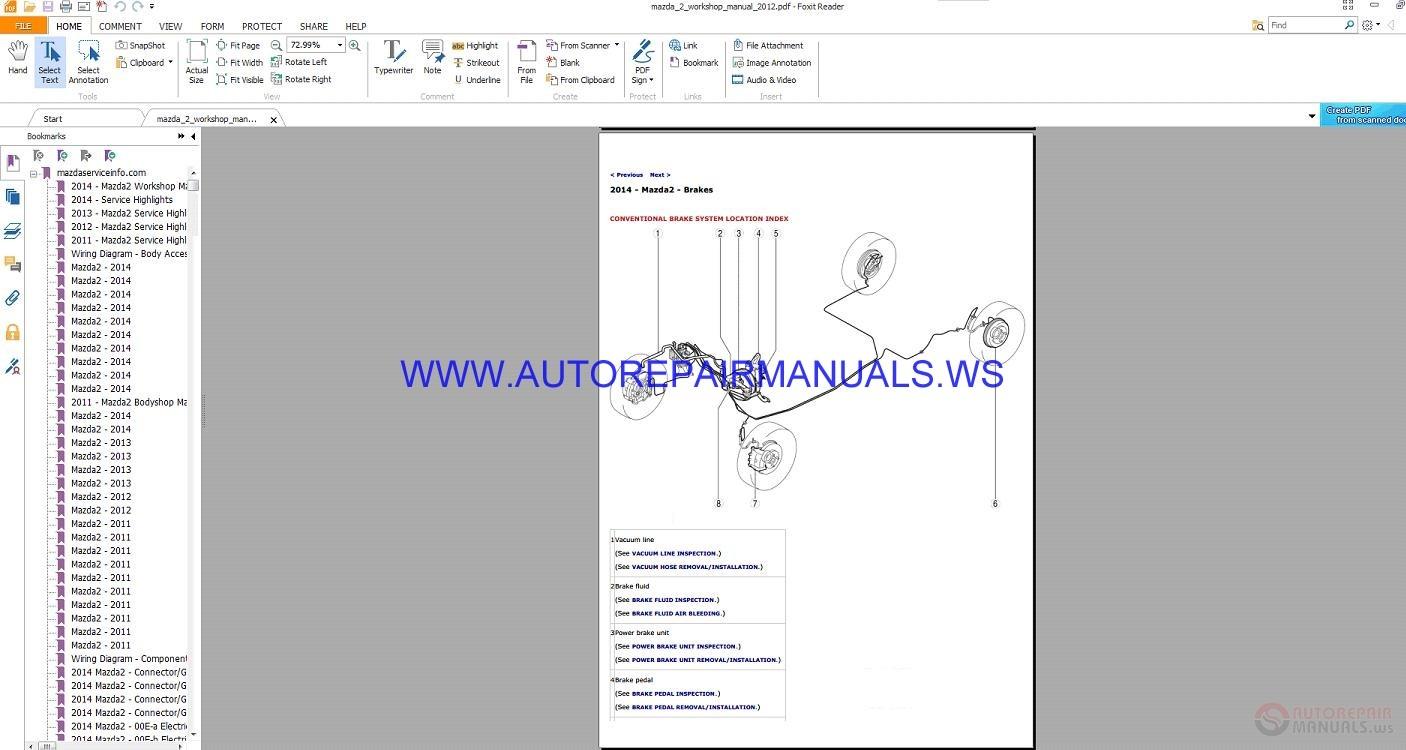 Mazda    2    Service    Highlights Workshop Manual 20112014