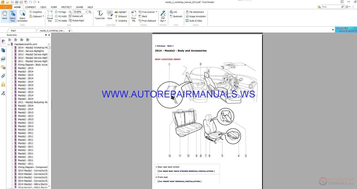 2011 mazda 2 service manual pdf