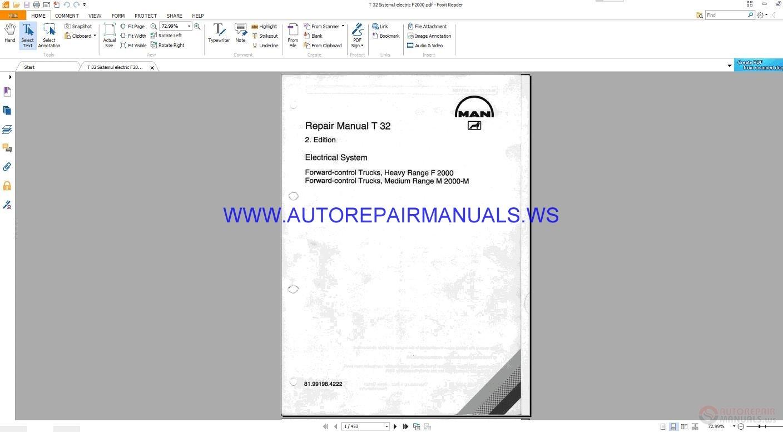 Man T32 Electrical System Repair Manual