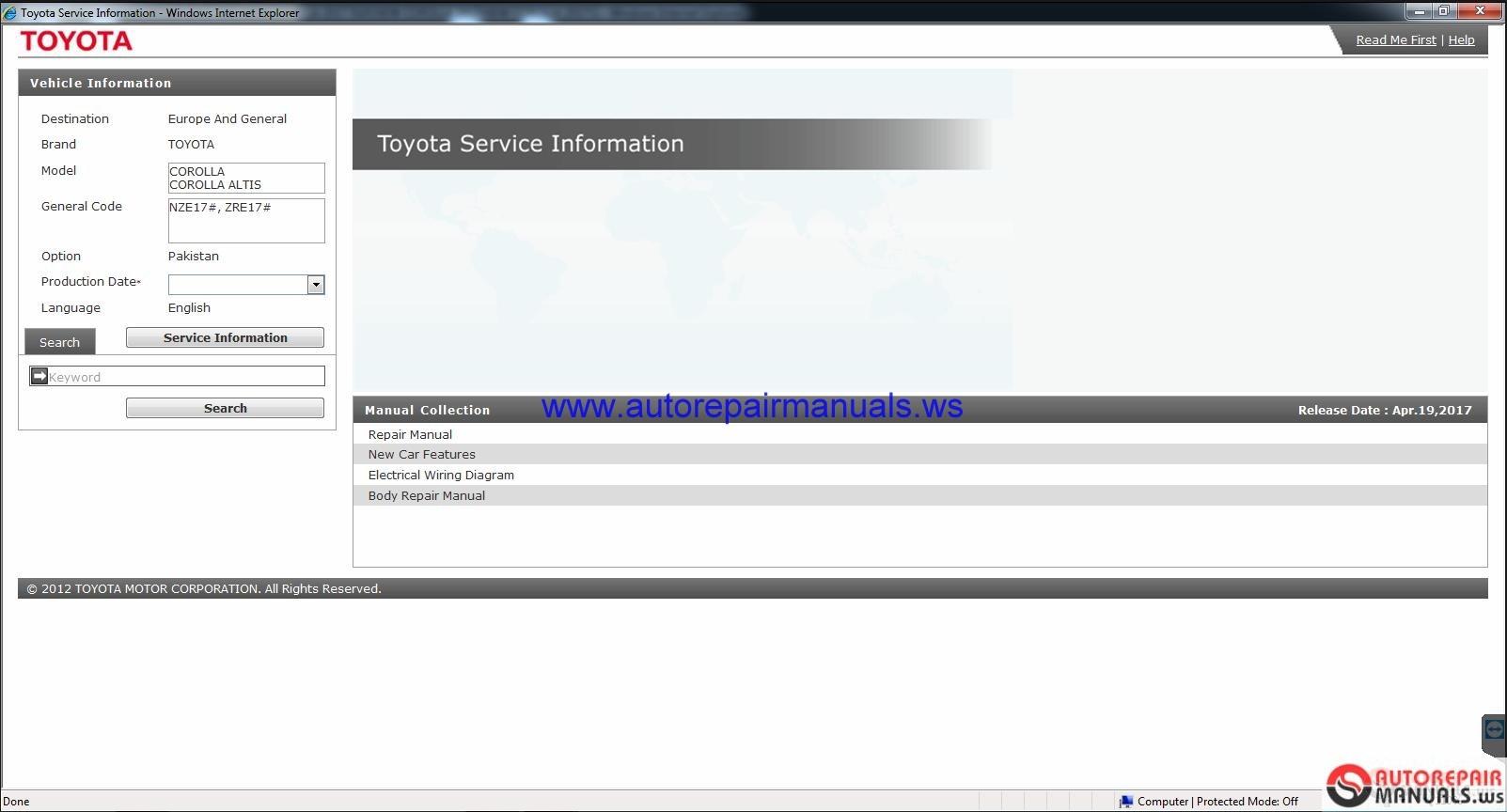 Toyota Corrolla Workshop Manual
