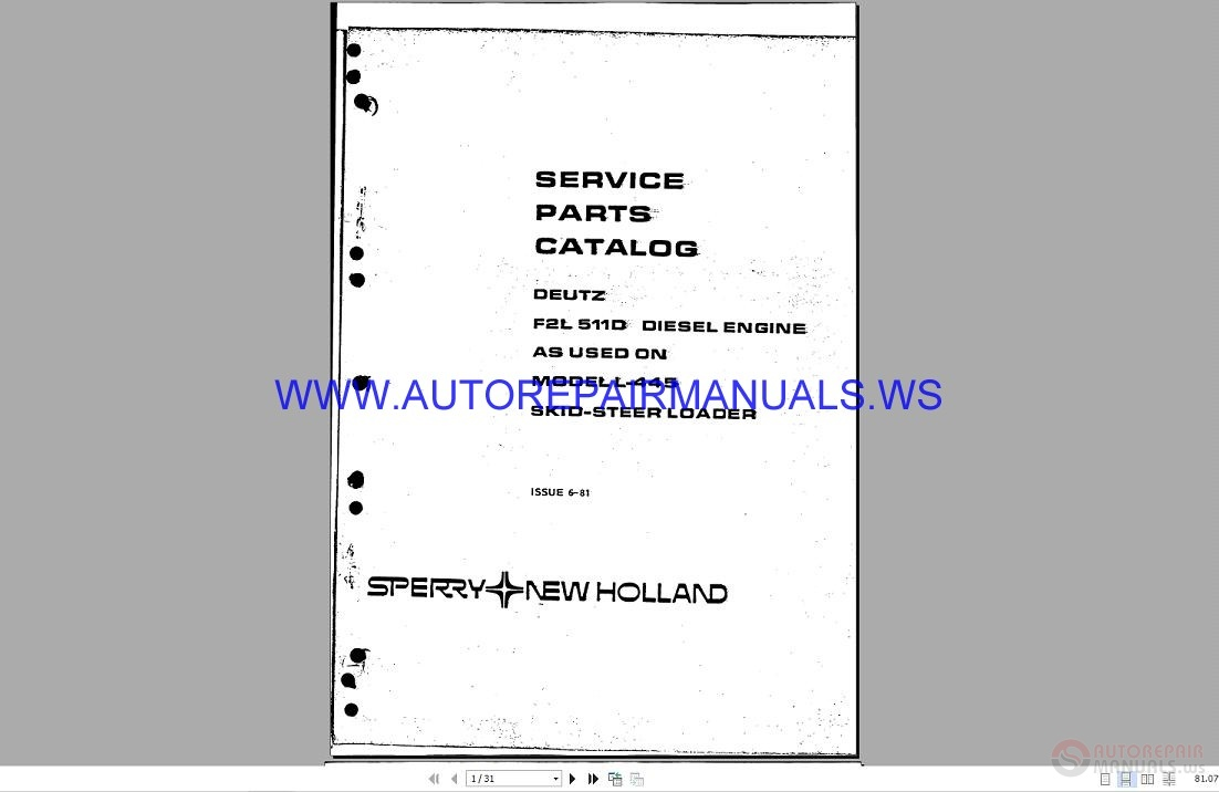 New Holland L230 Service Manual