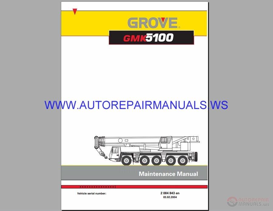 grove terrain crane gmk 5100 maintenance manual auto repair manual forum heavy equipment Ph Crane Manual PDF Manual Crane Hoist