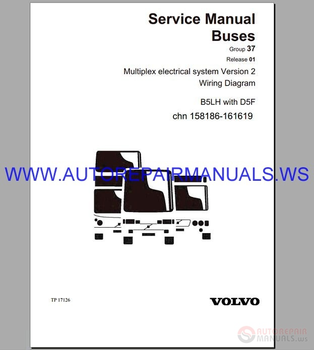 Volvo B5lh Trucks Wiring Diagram Service Manual Buses
