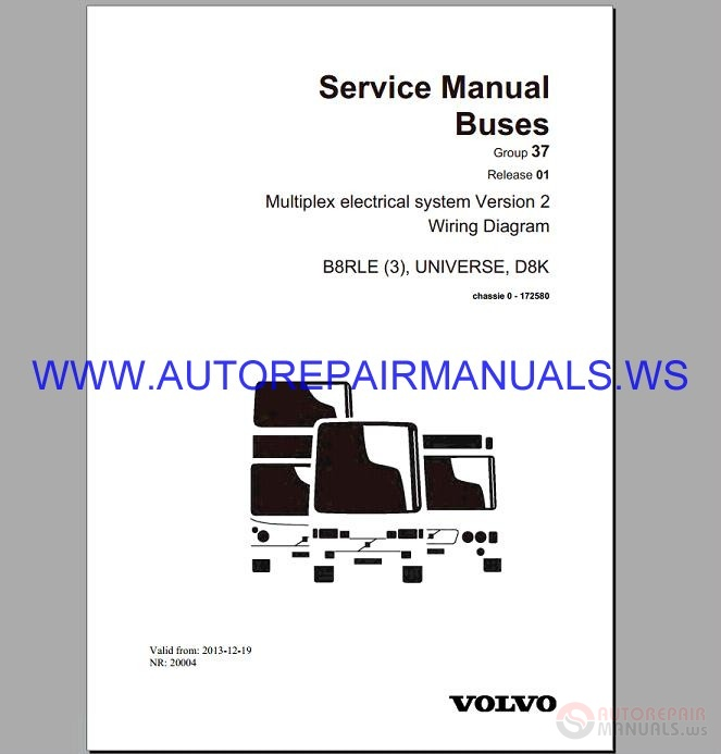 Volvo B8rle Wiring Diagram Service Manual Buses