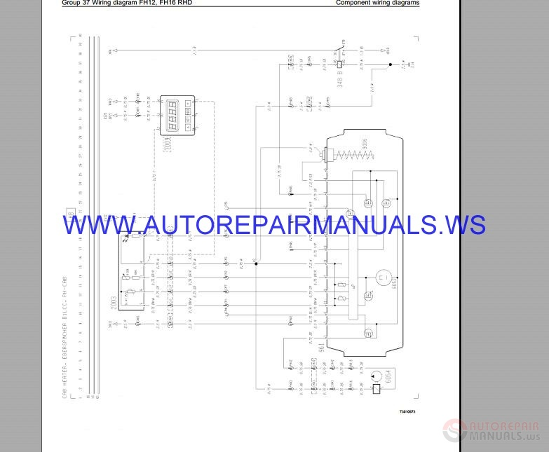 Volvo Fh12-rhd Trucks Wiring Diagram Service Manual