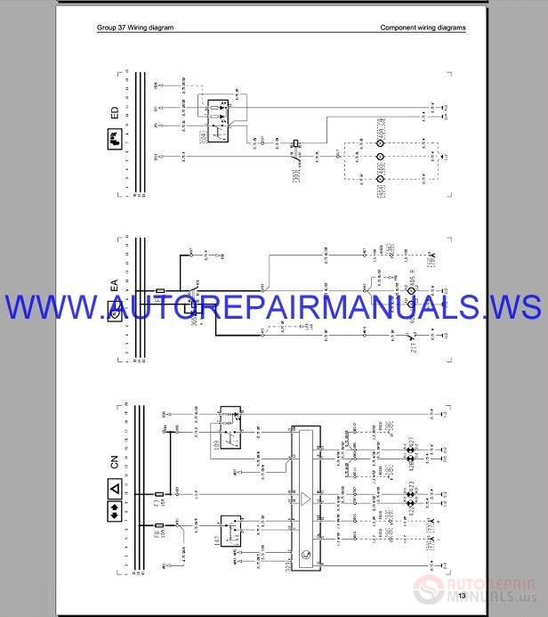 volvo fh16 trucks wiring diagram service manual