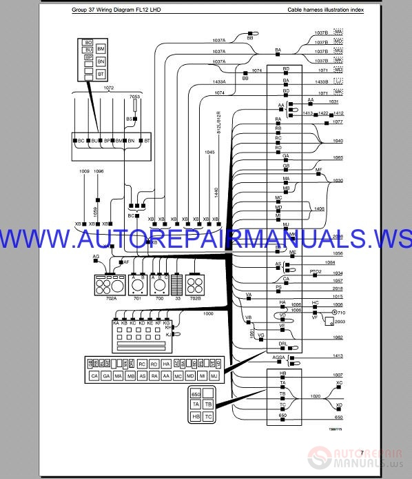 Volvo Fl12 Lhd Trucks Wiring Diagram Service Manual