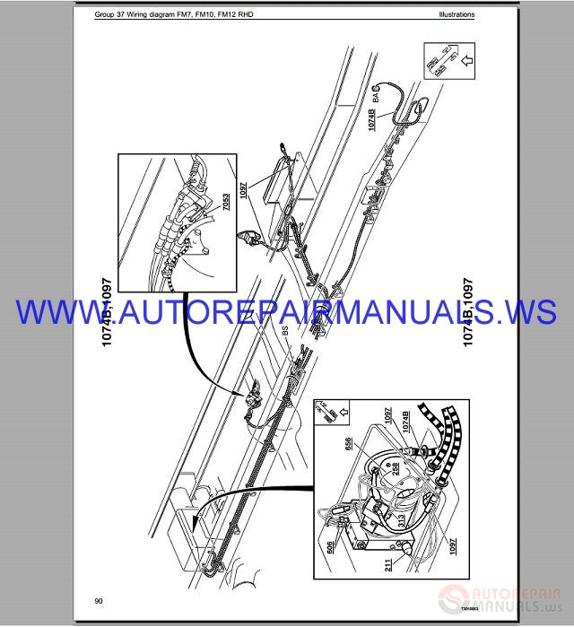volvo fm7 trucks wiring diagram service manual
