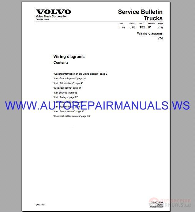 Volvo Vhd Truck Service Wiring Diagram 27540 Centrodeperegrinacion Es