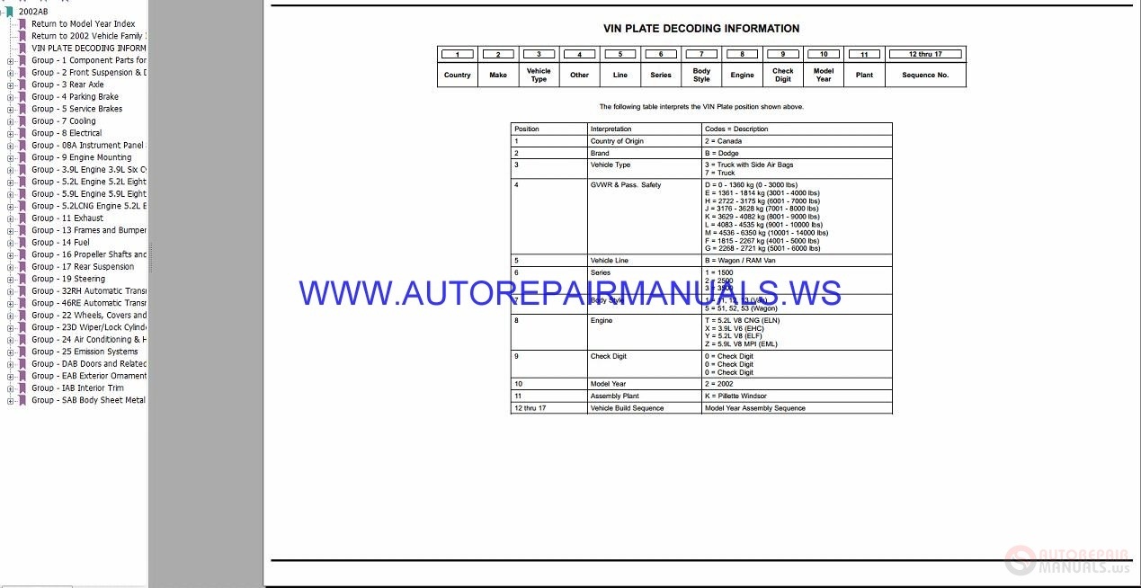 Chrysler Dodge Ram Van Ab Parts Catalog Part 2 1997 2003 border=