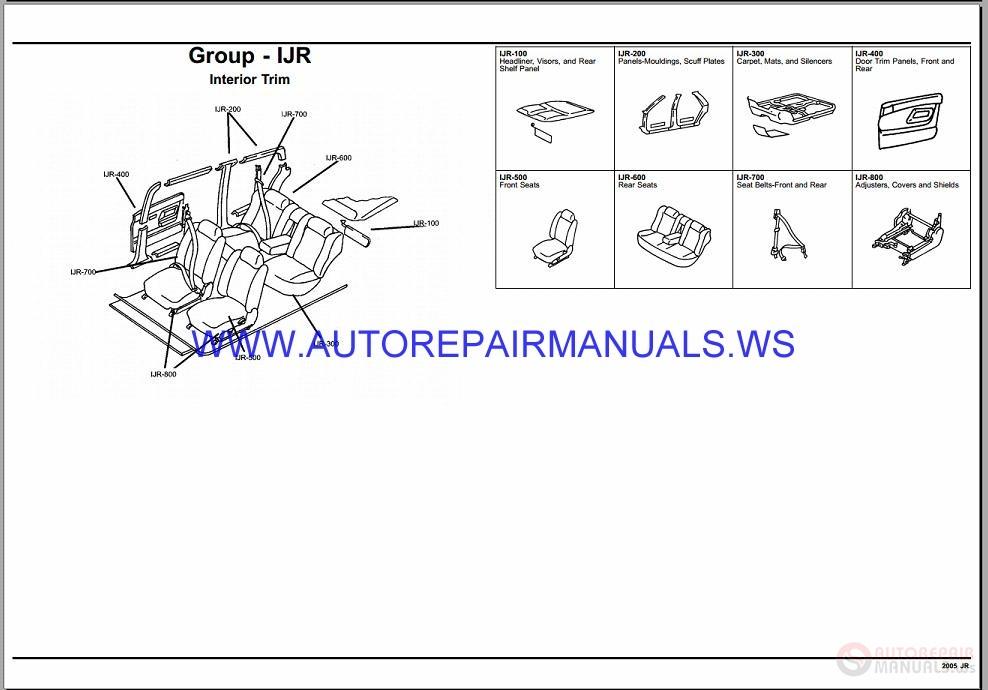 Chrysler Dodge Sebring Stratus Jr Parts Catalog Part on 2006 Chrysler Sebring Parts Catalog