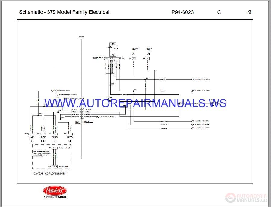 Peterbilt Trucks 379 Electrical Schematic Maintenance