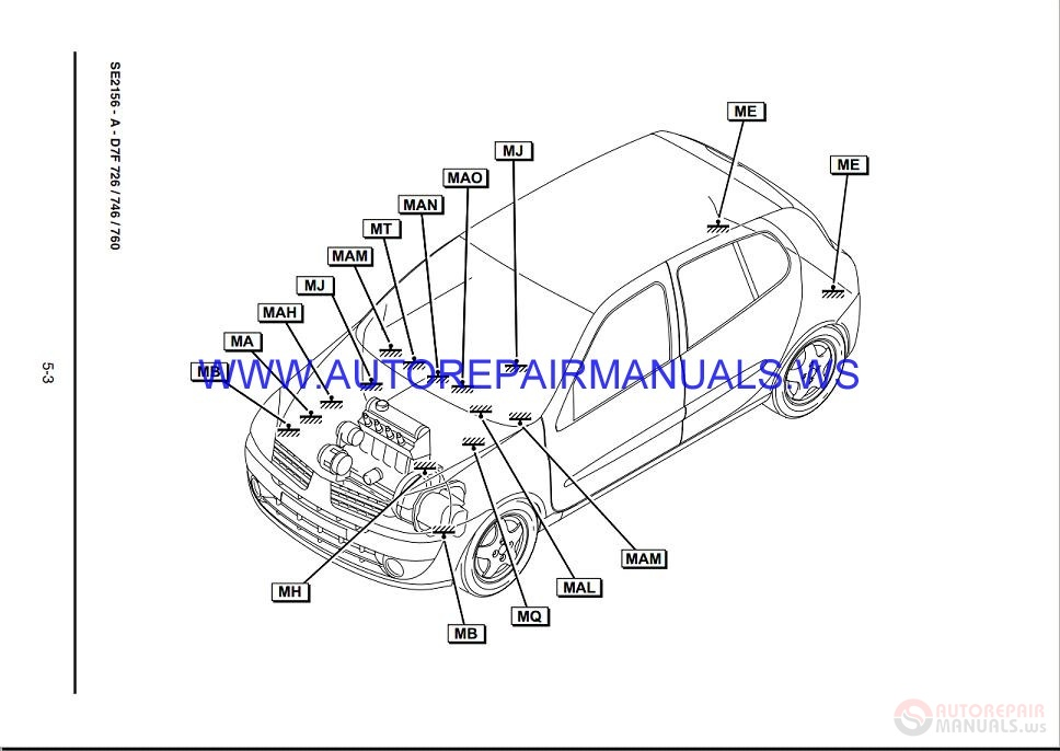renault clio x65 nt8192a disk wiring diagrams manual 06-2001