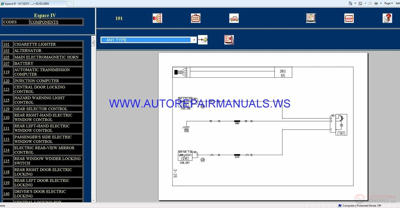 Renault Espace Fuse Box Diagram Manual Wiring Library