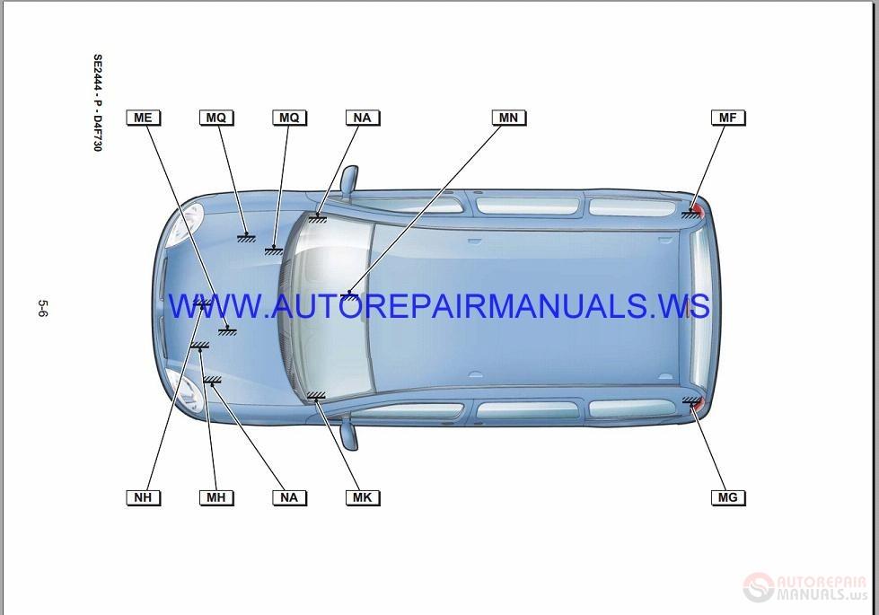 Renault Kangoo X76 Nt8330 Disk Wiring Diagrams Manual 08