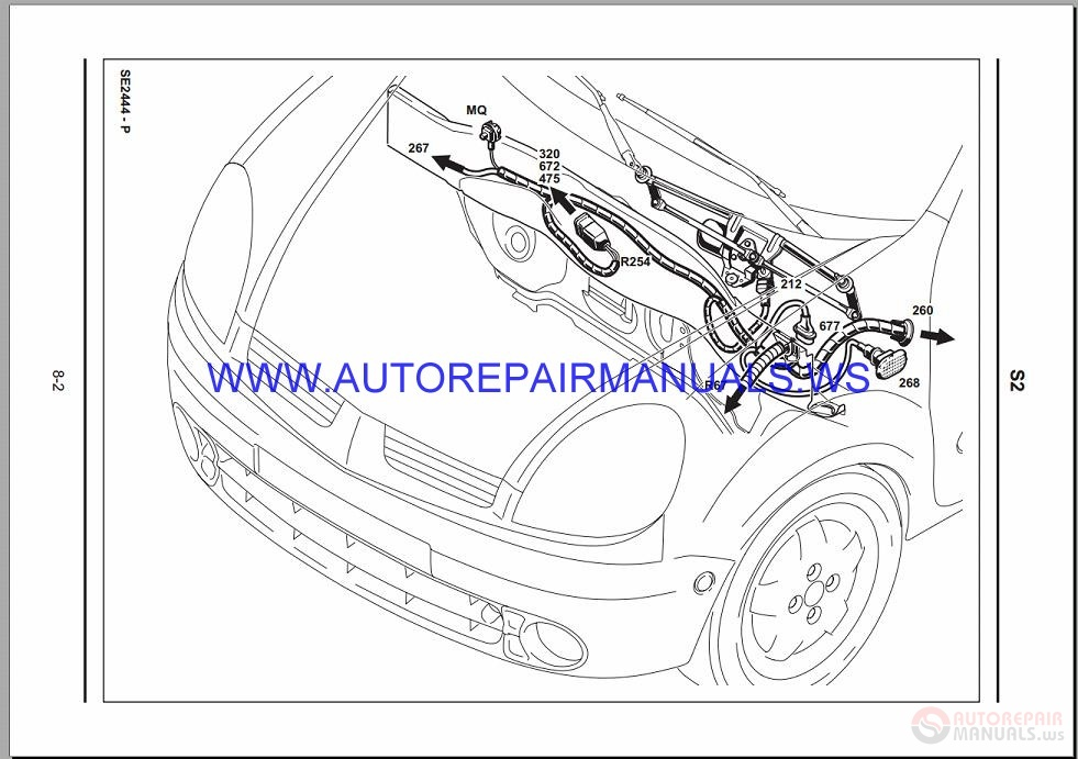 Renault Kangoo X76 Nt8330 Disk Wiring Diagrams Manual 08