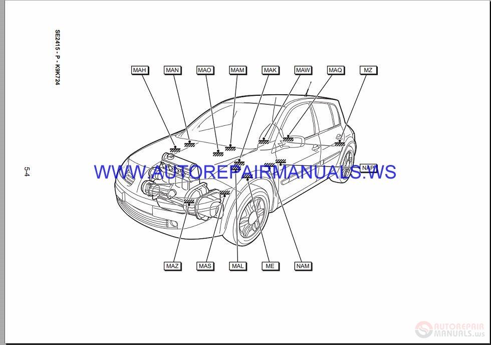 Renault Megane Ii X84 Nt8339 Disk Wiring Diagrams Manual 18