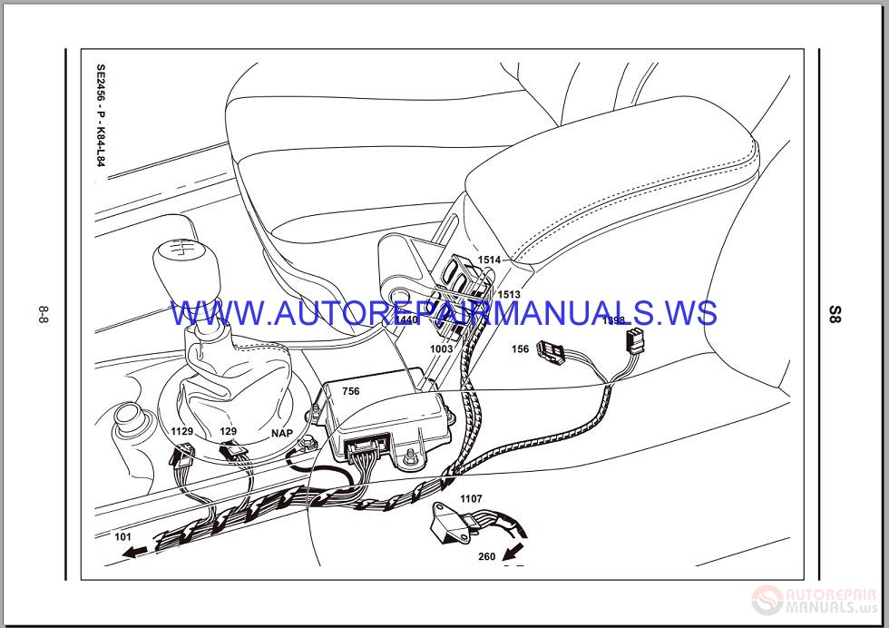 Renault Megane Ii X84 Nt8342 Disk Wiring Diagrams Manual