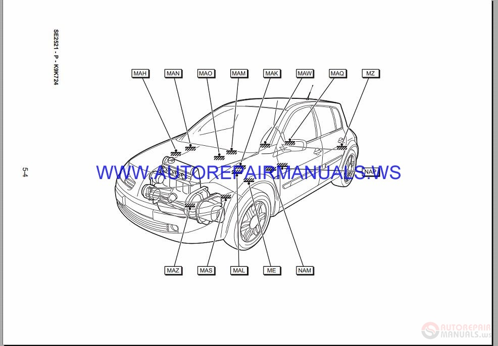 renault megane ii x84 nt8392 disk wiring diagrams manual 04
