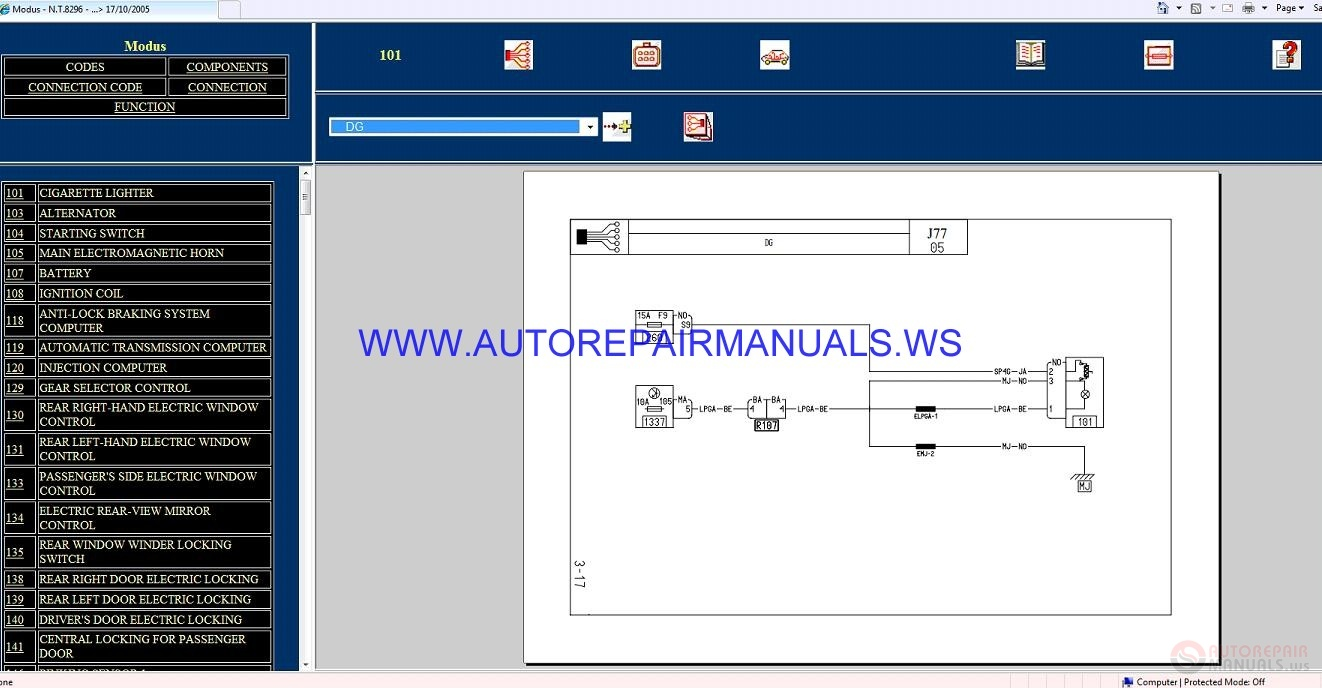 Renault Modus J77 Nt8296 Disk Wiring Diagrams Manual 17