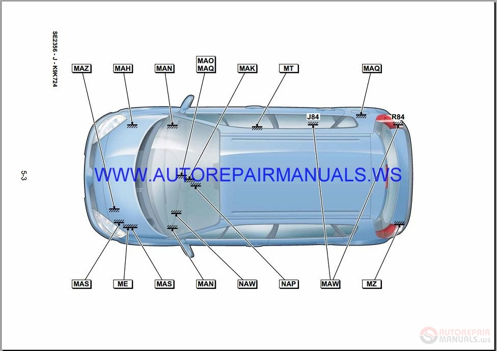 Renault Scenic Ii J84 Nt8302 Disk Wiring Diagrams Manual