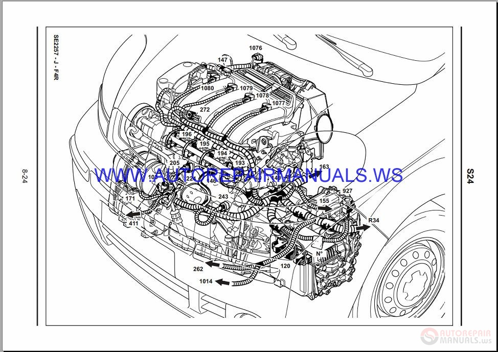 Renault Trafic X83 Nt8250 Disk Wiring Diagrams Manual 10-2003
