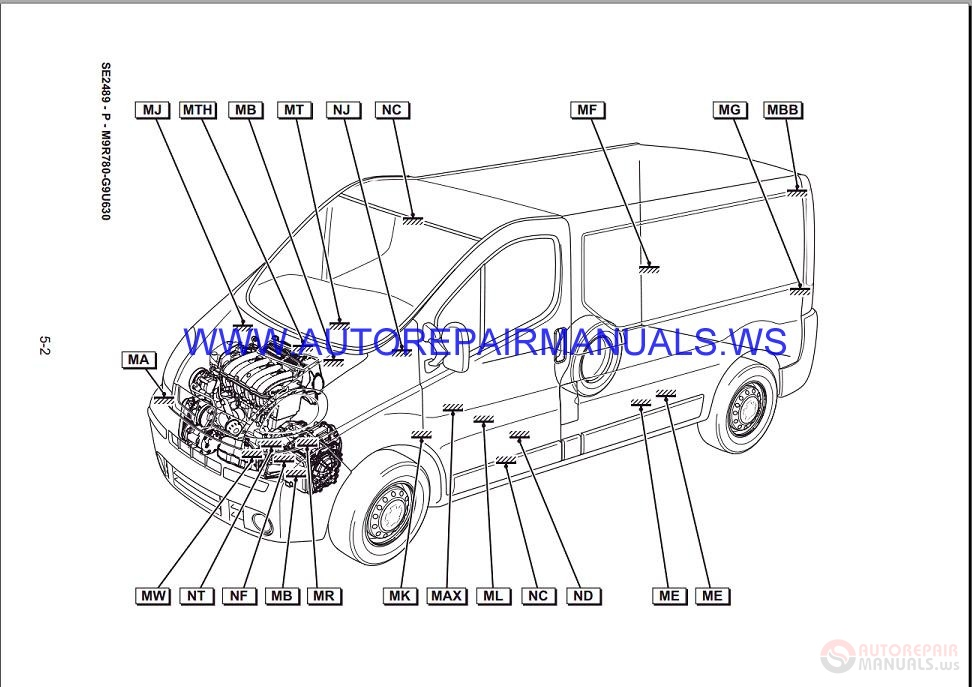 renault trafic x83 nt8379 disk wiring diagrams manual 1607