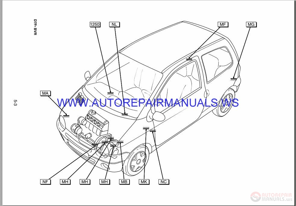 Renault Twingo X06 Nt8190a Disk Wiring Diagrams Manual 01