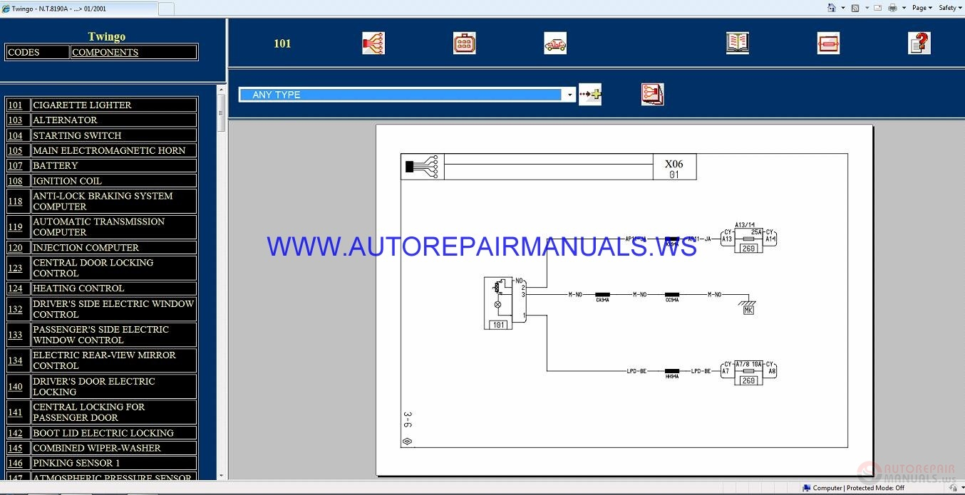 Renault Wiring Diagrams Twingo X06 Megane Diagram Wellread Me Inside Nt8190a Disk Manual 01 2001 Rh Autorepairmanuals Ws