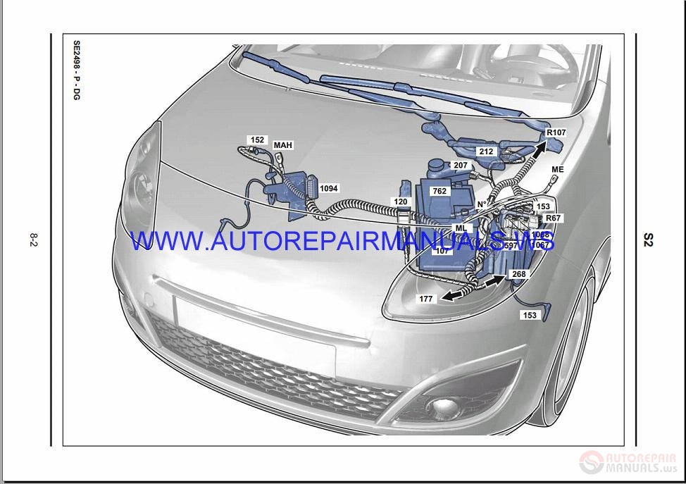 Renault Twingo X44 Nt8371 Disk Wiring Diagrams Manual 01