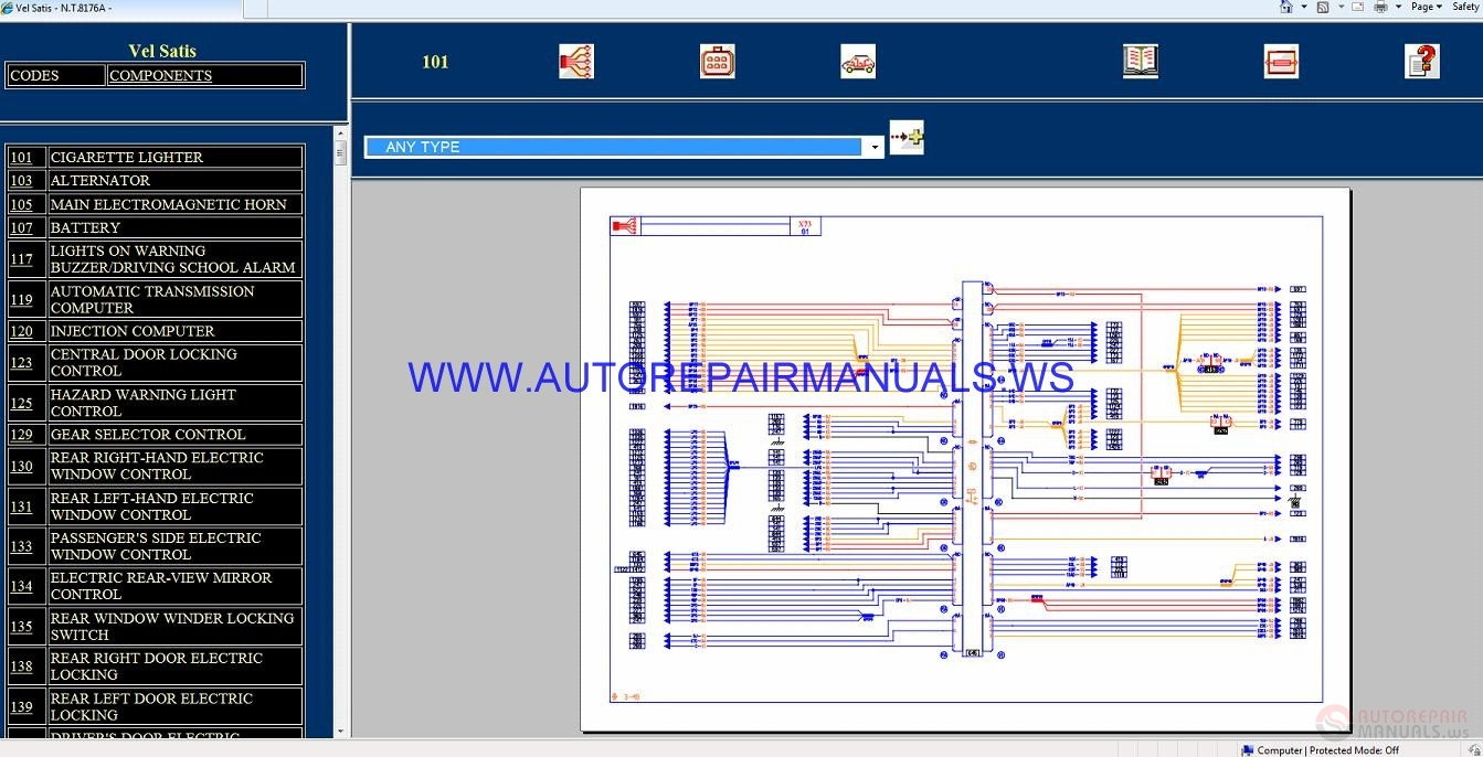 Renault Vel Satis X73 NT8176A Disk    Wiring    Diagrams Manual 07022002   Auto Repair Manual Forum