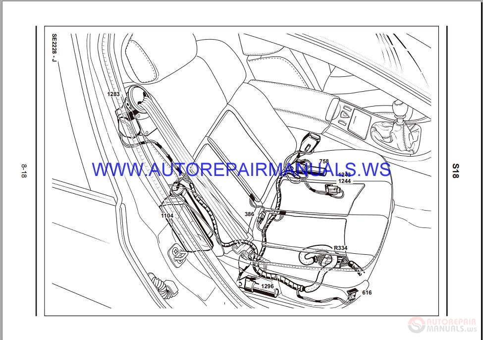 Renault Velsatis X73 Nt8243 Disk Wiring Diagrams Manual 05
