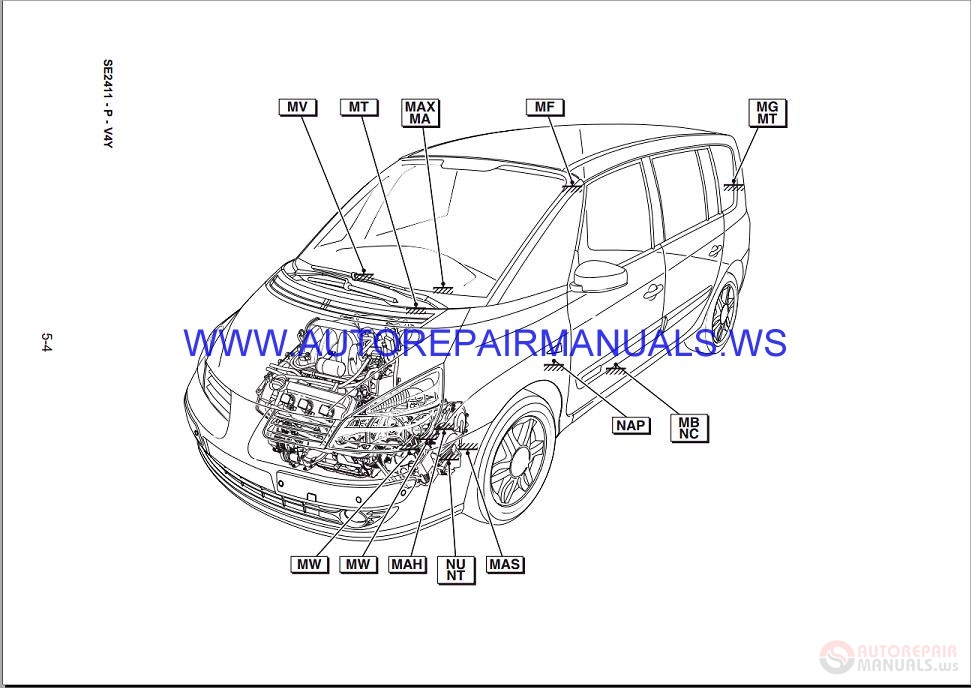 Renault       Espace       IV    J81 NT8337 Disk Wiring    Diagrams    Manual 08052006   Auto Repair Manual Forum
