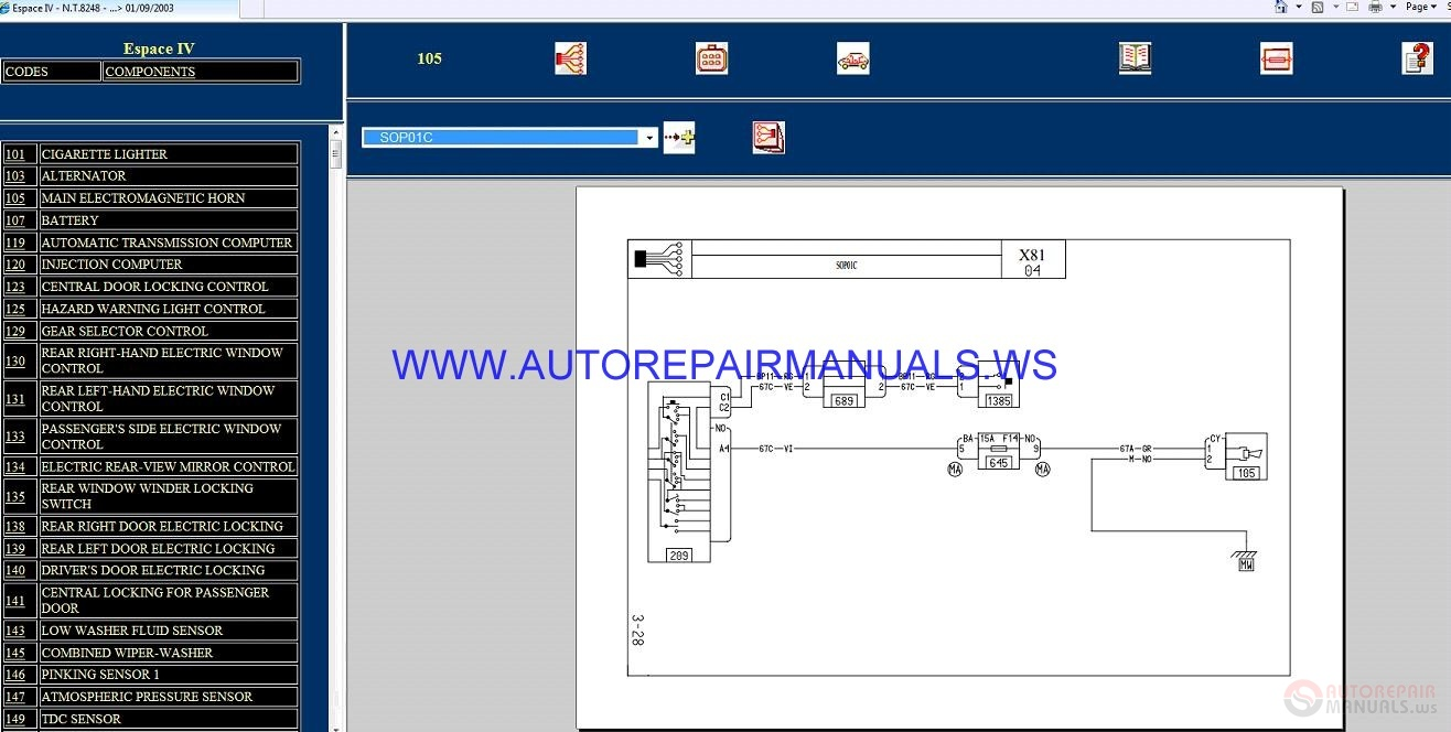 Renault Espace 4 Wiring Diagram General Information Lexus Sc300 Pdf Iv X81 Nt8248 Disk Diagrams Manual 01 09 2003 Rh Autorepairmanuals Ws