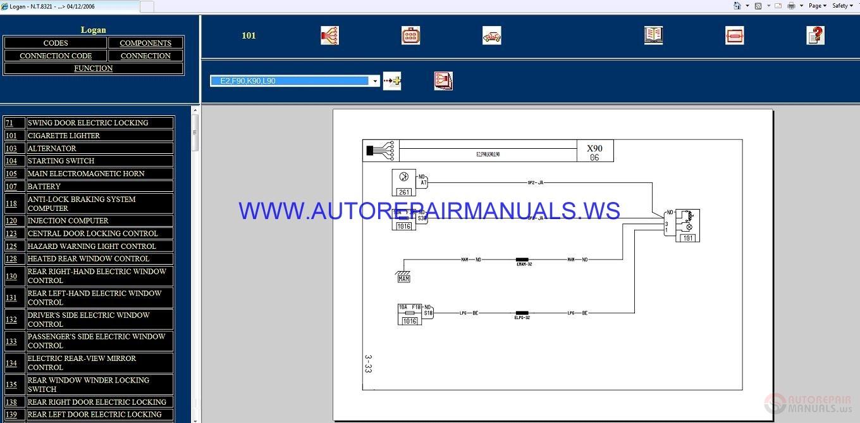 Renault Logan X90 Nt8321 Disk Wiring Diagrams Manual 04