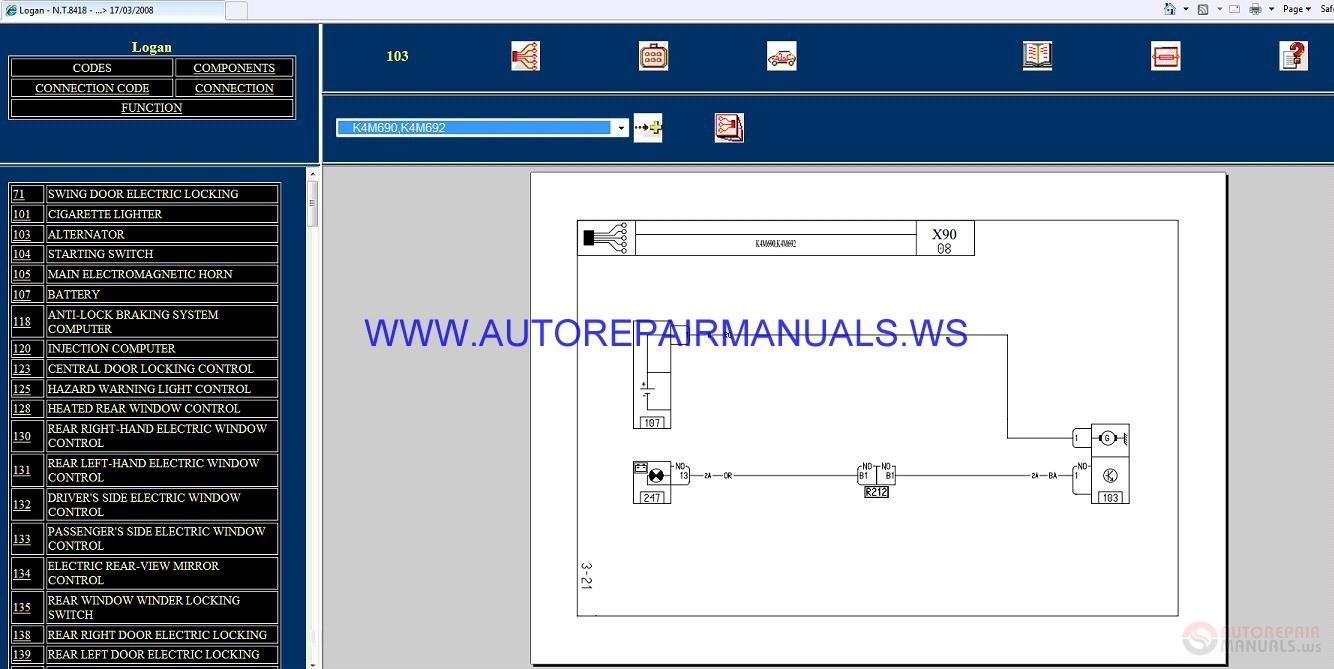 Renault Logan Wiring Diagram Trusted Diagrams Koleos X90 Nt8418 Disk Manual 17 03 2008 2015