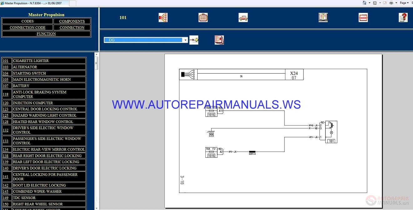 Renault Master Propulsion X24 Nt8304 Disk Wiring Diagrams Manual 01