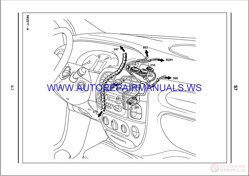 Renault Megane Scenic X64 Nt8230 Disk Wiring Diagrams Manual 06