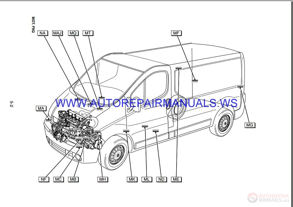 Renault Trafic J83 Nt8175a Disk Wiring Diagrams Manual 04