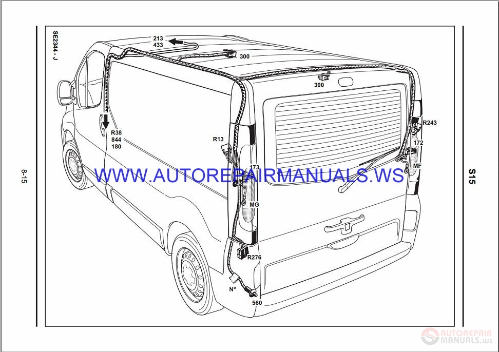 Renault Trafic X83 Nt8285 Disk Wiring Diagrams Manual 15