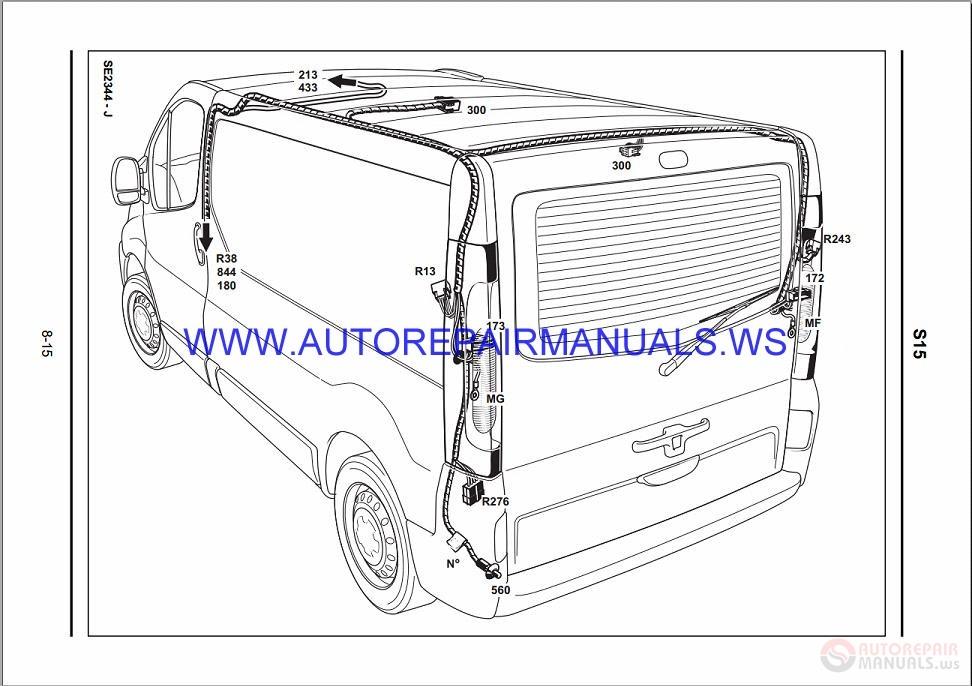 renault trafic x83 nt8285 disk wiring diagrams manual 1503