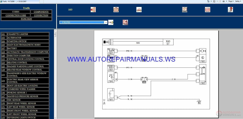 Renault Trafic X83 Nt8380 Disk Wiring Diagrams Manual 15