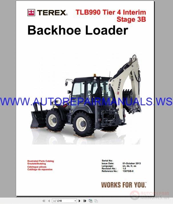 Terex TLB990 Tier 4 Interim Stage 3B Backhoe Loader Parts