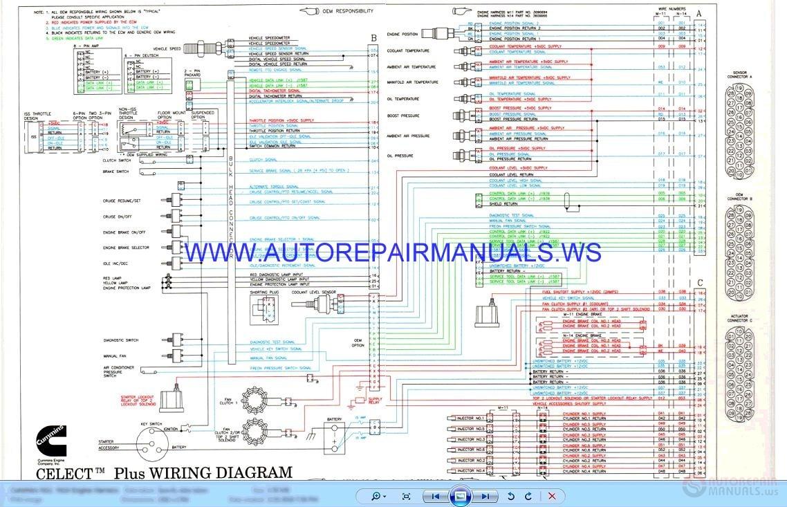 cummin n11 cm871 electrical wiring diagrams manual auto. Black Bedroom Furniture Sets. Home Design Ideas