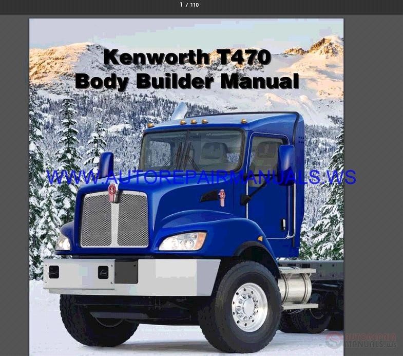 Kenworth T470 Body Builder Manual