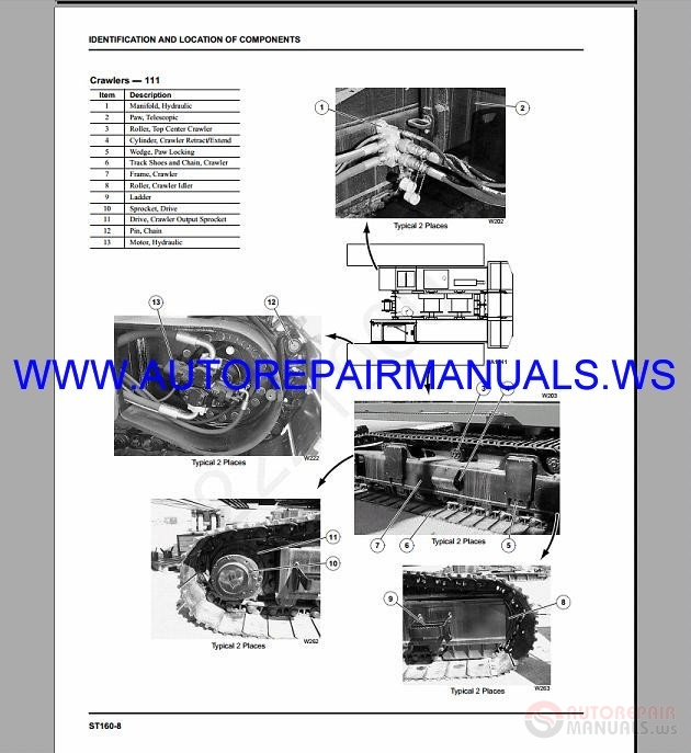manitowoc crawler cranes all model shop manual dvd